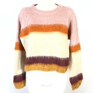 Pink Rose sweater color block